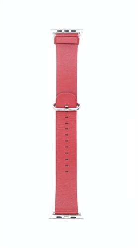 """Ремешок для Watch 42/44mm, """"кожаный"""", гладкий soft leather, красный - фото 10998"""