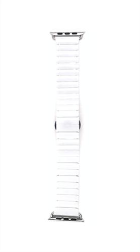 Ремешок для Watch 42/44mm, керамический, блочный браслет, белый - фото 11038