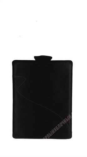 Чехол кармашек MAPI Кожанный черный, красная строчка - фото 11956