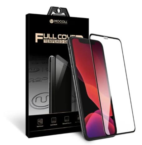 """Защитное стекло для iPhone Xs Max/11 Pro Max 3D Mocoll 2,5D 2GEN (Серия """"Black Diamond"""") черный - фото 14292"""