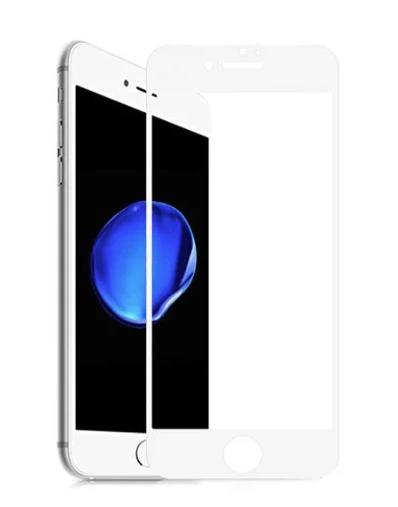Защитное стекло для iPhone 7/8 Plus 3D эконом, белый - фото 15351