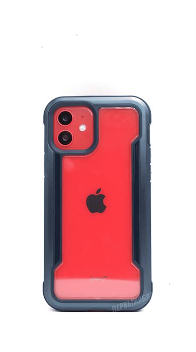 Чехол X-Doria Defense для iPhone 12/12 Pro, противоударный метал, синий - фото 16396
