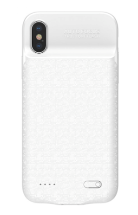 Чехол аккумулятор для iPhone X/Xs 3500mAh Baseus, белый - фото 7451