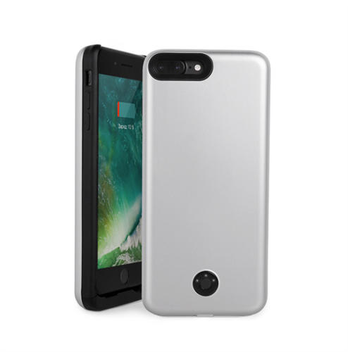 Чехол аккумулятор для iPhone 7/8 Plus 9000mAh 07p-01, серебристый - фото 7808