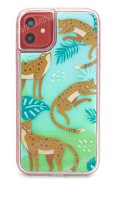 Чехол для iPhone 11 силиконовый, неоновый, леопарды, зеленый (SL)