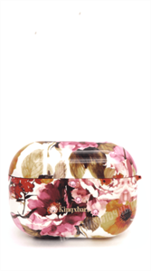 Защитный чехол для AirPods Pro, пластиковый, Kingxsbar, белый с цветами разноцветными