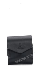 Защитный чехол для AirPods, мягкий под кожу, кармашек, черный