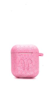 Защитный чехол для AirPods, плотный силиконовый, розовый узор