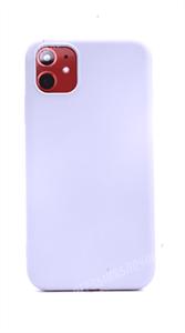 Чехол для iPhone 11 силиконовый с мягкой микрофиброй внутри, тонкий Brau, фиолетовый (SL)