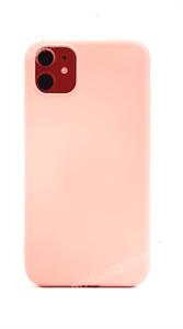Чехол для iPhone 11 силиконовый с мягкой микрофиброй внутри, тонкий Brau, розовый (SL)