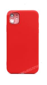 Чехол для iPhone 11 силиконовый с мягкой микрофиброй внутри, тонкий Brau, красный (SL)
