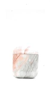 Защитный чехол для AirPods, пластиковый, мрамор, серый