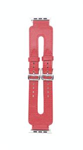 """Ремешок для Watch 42/44mm*, """"кожаный"""", широкий leather band, красный"""
