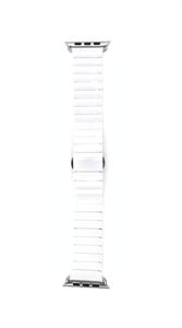 Ремешок для Watch 42/44mm, керамический, блочный браслет, белый