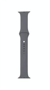 Ремешок для Watch 42/44mm, силиконовый, Sport, темно серый