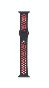 Ремешок для Watch 42/44mm, Nike, черный/красный