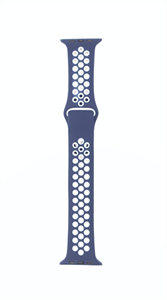 Ремешок для Watch 42/44mm, Nike, темно синий/белый