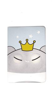 Чехол для iPad mini 1/2/3 силиконовый детский, серый зверь с короной