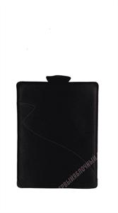 Чехол кармашек MAPI Кожанный черный, красная строчка