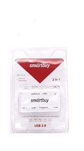 Картридер+USB Hub 2 in 1 Smartbuy