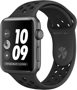 Умные часы Apple Watch S3 Nike+ 38mm Space Gray Aluminum Case with Anthracite/Black Nike Sport Band (MTF12)