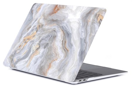 Чехол для MacBook Pro Retina 13' Gurdini, пластиковый, мрамор серый с золотым