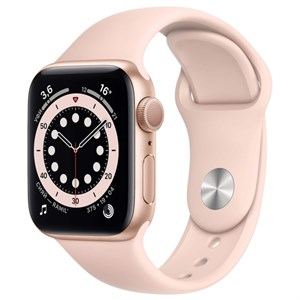 Умные часы Watch S6 44mm Gold Aluminum Case with Pink Sand Sport Band (M00E3)
