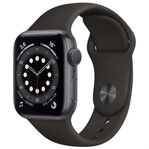 Умные часы Watch S6 44mm Space Gray Aluminum Case with Black Sport Band (M00H3)
