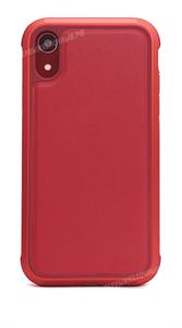 Чехол для iPhone Xr противоударный, металлический Defense Lux, красный