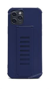 Чехол для iPhone 12/12 Pro, силиконовый с кольцом держателем, синий