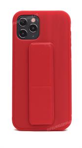 Чехол для iPhone 12/12 Pro, силиконовый с подставкой, красный