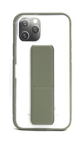 Чехол для iPhone 12/12 Pro, силиконовый прозрачный с подставкой, темно-зеленый