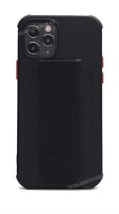 Чехол для iPhone 12/12 Pro, силиконовый с кольцом держателем, черный