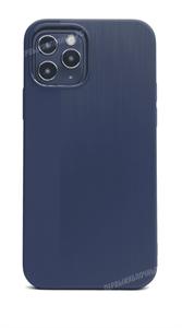 Чехол для iPhone 12/12 Pro, King, ультратонкий, карбон, синий