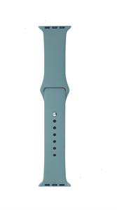 Ремешок Gurdini для Watch 38/40mm, силиконовый, Sport, 2 размера, зеленый лес