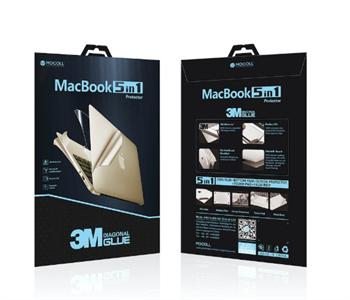 """Защитная пленка для MacBook Air 13' Retina 2018 new Mocoll 5 в 1, (серия """"Black Diamond""""), Gold"""