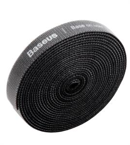 Органайзер проводов Baseus Circle Velcro strap 3m, черный
