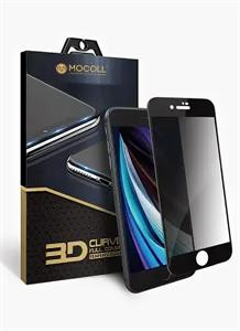 """Защитное стекло для iPhone 7/8 Plus, 3D Mocoll (серия """"Black Diamond""""), приватное черный"""