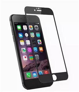 Защитное стекло для iPhone 6/6s 2D, эконом цветное, черное