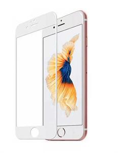 Защитное стекло 3D цветное для iPhone 6/6s Plus, эконом, белый