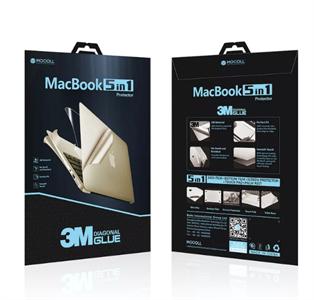 """Защитная пленка для MacBook Pro 13' Retina Mocoll 5 в 1, (серия """"Black Diamond""""), Silver"""