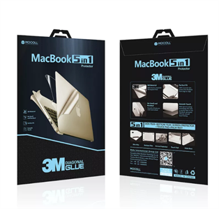 "Защитная пленка для MacBook Pro 13' TouchBar Mocoll 5 в 1, (серия ""Black Diamond""), Silver"
