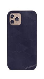Чехол Kajsa для iPhone 12 Pro Max, силиконовый кожаная вставка с узором, синий