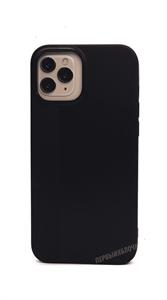 Чехол для iPhone 12 Pro Max силиконовый, плотный матовый, черный
