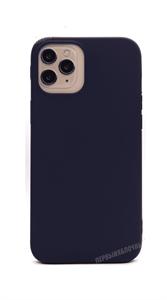 Чехол для iPhone 12 Pro Max силиконовый, плотный матовый, синий