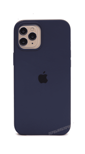 Чехол Silicone Case для iPhone 12 Pro Max, синий (HQ)