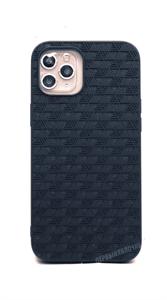 Чехол Kajsa для iPhone 12 Pro Max, силиконовый узор треугольники, синий