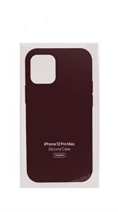 Чехол Silicone Case для iPhone 12 Pro Max, бордовый (OR)