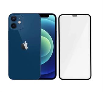 Защитное стекло 3D для iPhone 12 mini 5.4' техпак, черный