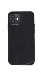 Чехол для iPhone 12/12 Pro, Gurdini Premium Alcantara, черный